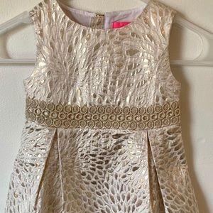 Gold Brocade Abrianna Dress